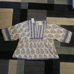 Lucky flowy loose blouse XL short sleeve